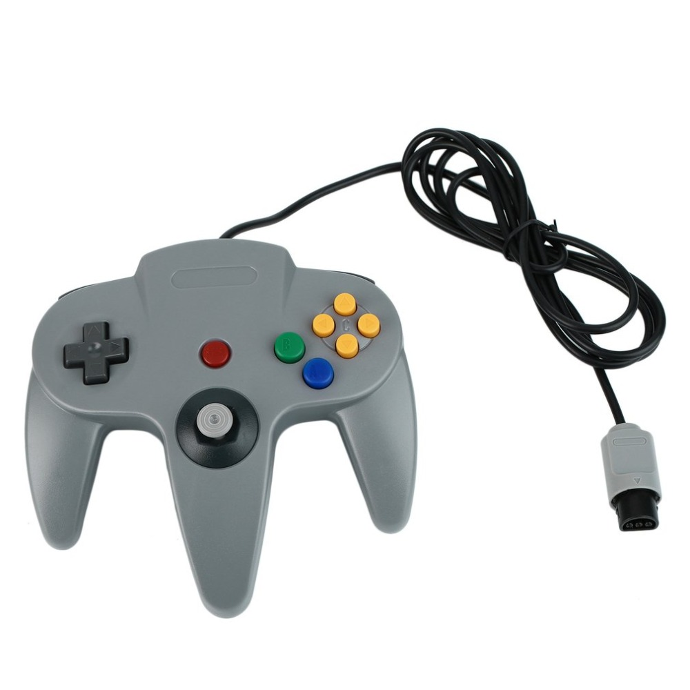 Long Handle Gaming Controller Game pad For Nintendo N64 System Portable Wired Joystick Controller Durable Children Gamepad