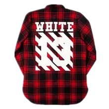 2016 Tyga cool oversized T shirts Tee men hip hop red Tartan Plaid top white 13