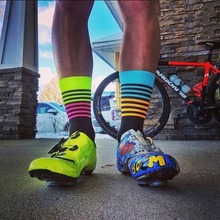 Cycling Socks Men Bicycle Professional Brand Sport Socks Protect Feet Breathable Wicking Cycling Socks