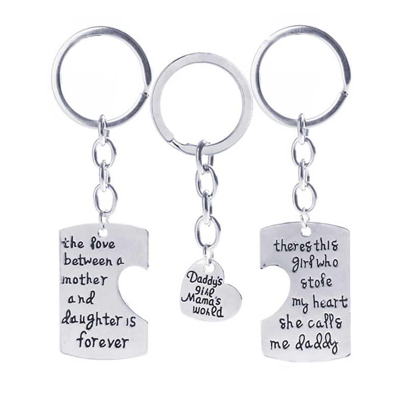 Christmas Gifts Fathers Mothers Child Jewelry Key Chains Gift, Mommy Daddy Girl Stole Heart Set Little Boy Kids Love Mothers Day ...
