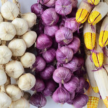 Hanging-String Onion Garlic Fake Photography-Props Corn Vegetables-Plant Artificial-Foam