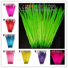 ZPDECOR 50 pieces 50-55cm(20-22inch) Mixed Color Dyed Ringneck Pheasant Tail Feathers Party Festival Supplies DIY and Carnival недорого