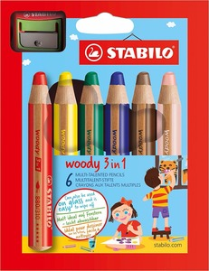 Image 4 - STABILO Woody 3 in 1 Multi Talented Pencil  Assorted Colors Wallet of 6/10/18 Colors