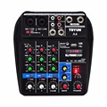 A4 Multi zweck Audio Mixer mit Bluetooth Rekord 4 Kanäle Eingang Mic Linie Einfügen Stereo USB Wiedergabe Sound Karte-in Bühnen-Audio aus Verbraucherelektronik bei