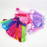 2018 Newest Baby Girl Skirt Kids Rainbow Tutu Skirts Pettiskirt Tutu Custome Party Wedding Dance Skirt