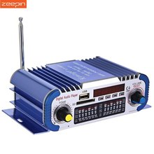 Hi-Fi мини-автомобиль Мощность Усилитель стереорежимах светодиодный цифровой Авто Аудио плеер Поддержка 2-канальный USB FM SD автомобильный сабвуфер