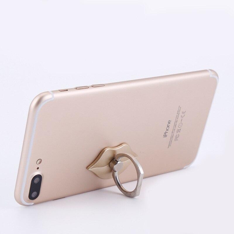 CLWEIB Phone Finger Ring Holder Smartphone Stand Small Lips ring bracket 360 Degree Rotating Ring Bracket Phone Holder