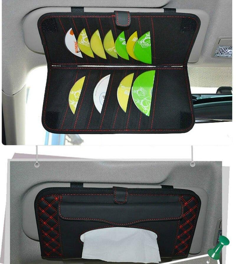 Organizador para el parasol del coche soporte para CDs bolsa de almacenamiento