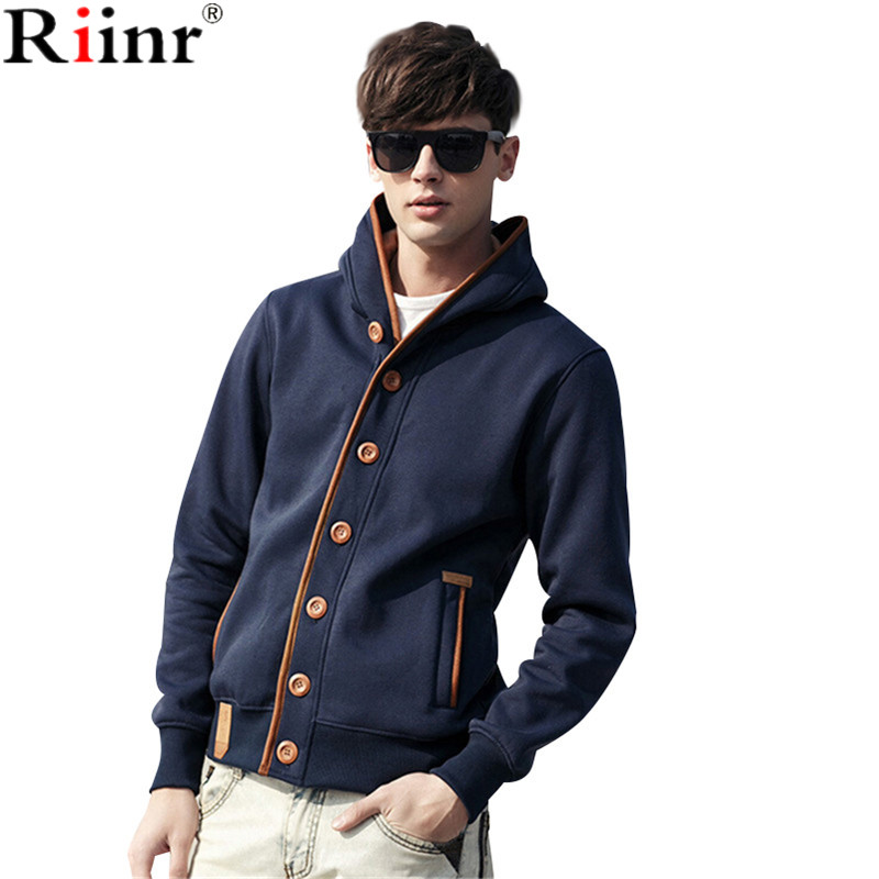 Riinr 2017 Men Hoodies Brand Casual Hoodies Men Fleece Fashion Hip Hop Warm Hoody Polo Mens Hoody Jacket Sweatshirt Mens Sweat