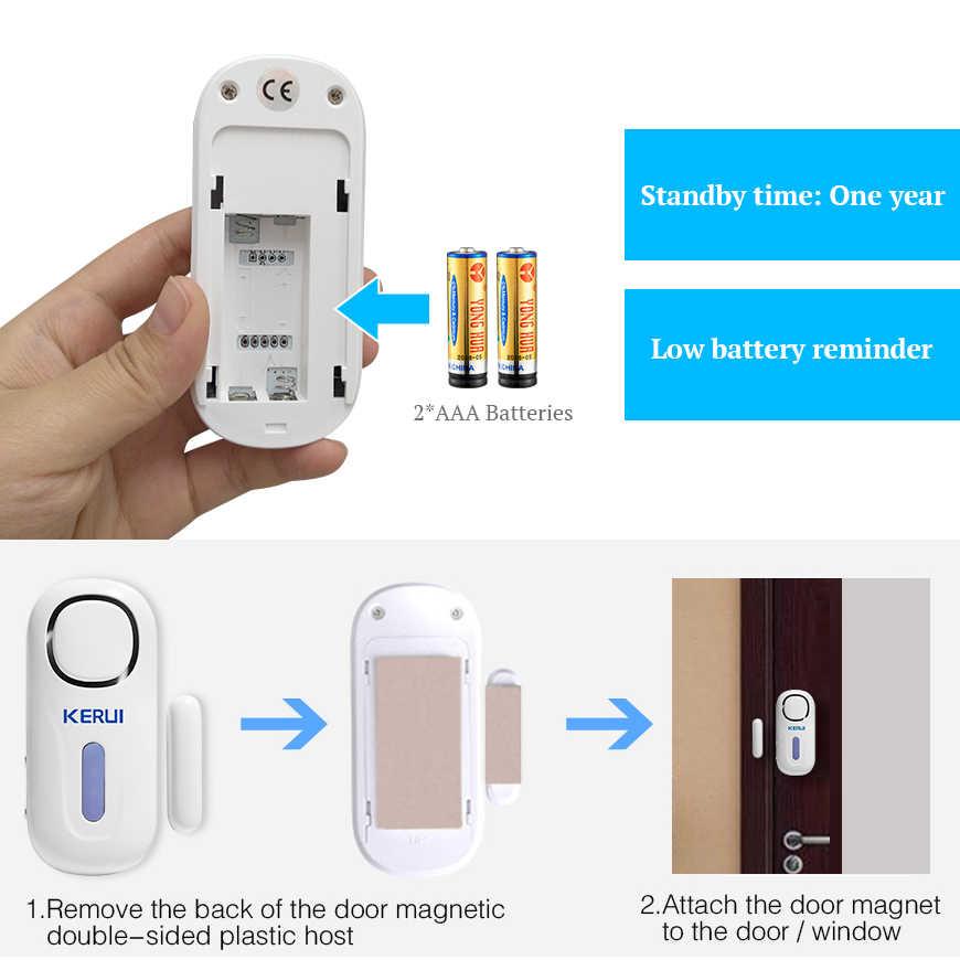 KERUI беспроводной дверной/оконный вход охранной датчик сигнальный ПИР двери Магнитная сигнализация системы безопасности с пультом дистанционного управления