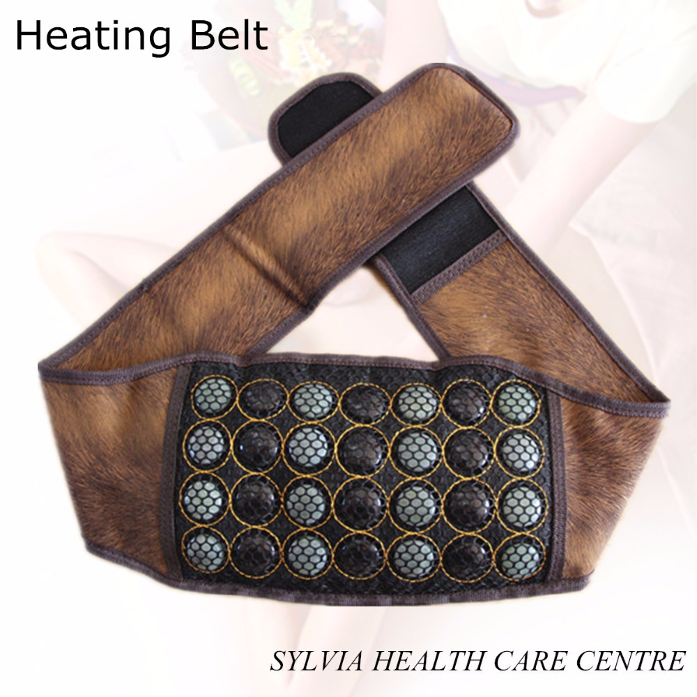 Jade health therapy electronic heating belt tourmaline Therapy heating jade belt Massage Heat Jade Belt body care beauty tourmaline heating belt neck shoulder massage heating pad health care massage belt with tourmaline stone