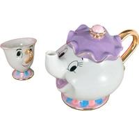 New arrival Cartoon Elephant tea set 1 Pot+1 Cup,TeaSet outline in gold Teapot Chip Cup Sugar Bowl Pot Set Coffee Kettle