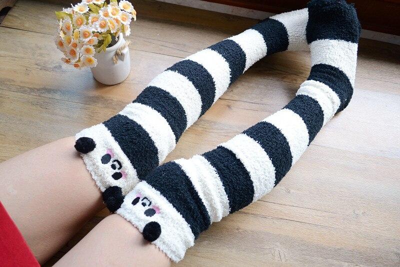 2018 new cute & sexy women knee high socks japanese jk school uniform velvet lolita girl stocking winter warm Stockings