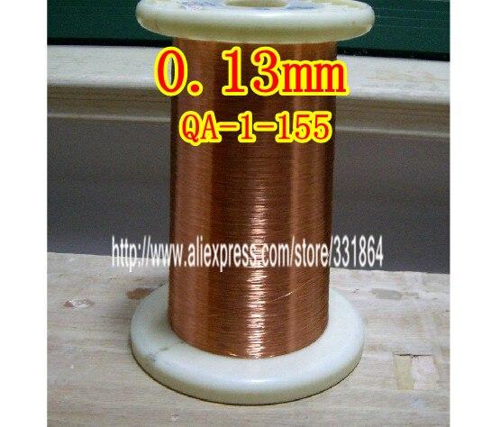 Fil de cuivre émaillé par fil de cuivre émaillé par polyuréthane QA-1-155 de 0.13mm * 500m
