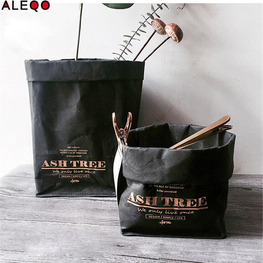 Black Washable Kraft Paper Storage Bag Nordic Style Vegetable Grow Flower Succulents Pots Plants Bags for Home