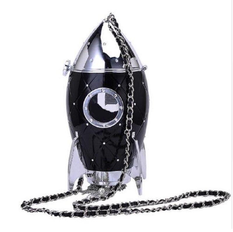купить Rocket bag women chains bag evening party design style handbag women summer new luxury brand fashion quilted messenger bag по цене 2034.49 рублей