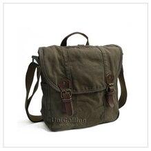Marke Leinwand Messenger Bags, 100% baumwolle qualitätsgarantie vintage leinwand tote-kurierbeutel militär casual umhängetasche