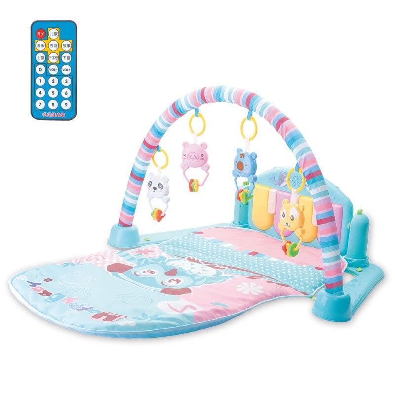 Nouveau-né Gym jouets éducatifs musicaux bébé télécommande pédale Piano activité tapis jouets pour 0-12 mois bébé jouets
