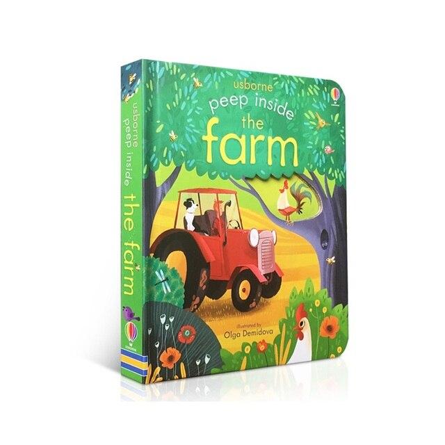Peep Inside La Granja Original inglés Educación libros ilustrados para la primera infancia del bebé regalo para los niños