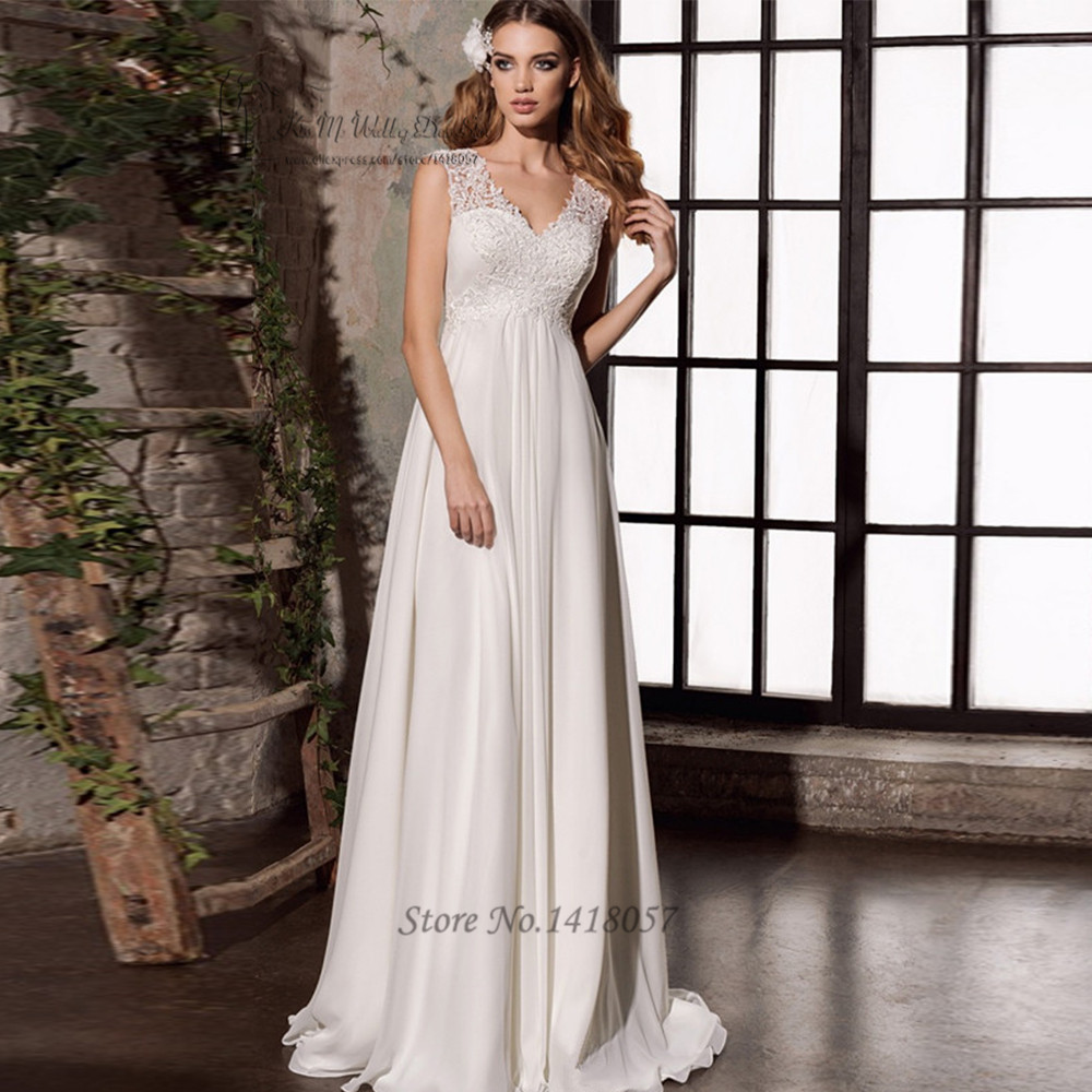 Cheap Maternity Wedding Dresses: Vestido De Noiva 2017 Cheap Empire Maternity Wedding Dress