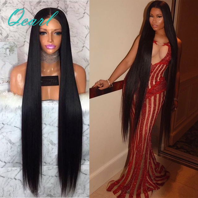 Super Long Lace Front Human Hair Wigs 24-28 inch Silky Straight Brazilian  Remy Hair a5ce0d254