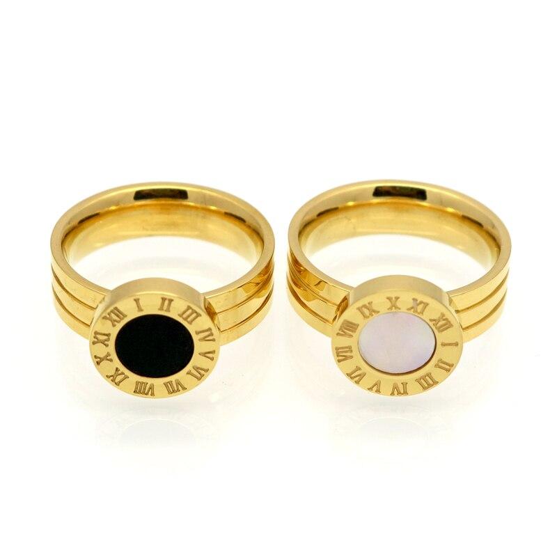 Panas!! Merek terkenal Wanita Rings Emas / Rose Gold Warna Stainless - Perhiasan fashion - Foto 3
