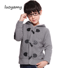 luoyamy Autumn Winter Boys Cardigan Sweater 2018 Children Clothes Boy Cardigan Jacket Solid Thicken Kids Knitwear Hoodies Coats