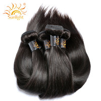 Sunlight Human Hair Brazilian Straight Hair Human Hair Weave Bundles 1 Piece Only Non Remy Natural
