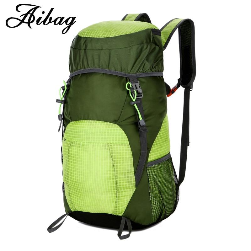 AIBAG Waterproof Backpack 35L Large Capacity Folding Travel Bags For Men Women Lightweight Nylon Shoulder Back Bag Rucksack