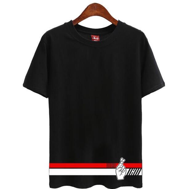 cdbc9ce300 Moda lato krótki rękaw o neck t shirt mężczyźni kobiety kpop ikon japonia  koncert samo drukowanie t-shirt fanów tees