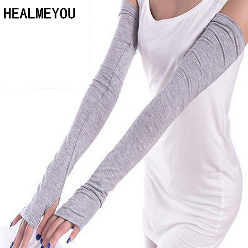 1 Pair New Style White And Black Arm Sleeves For Running Cycling Outdoor Working Arm Sleeves For Sun Protection Arm Cover