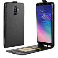 Leather Wallet Case For Samsung Galaxy S9 S8 Note 9 8 A6 A8 Plus A9 A7 2018 C10 C7 Xcover 4 Flip Phone Bag Case Back Cover Shell