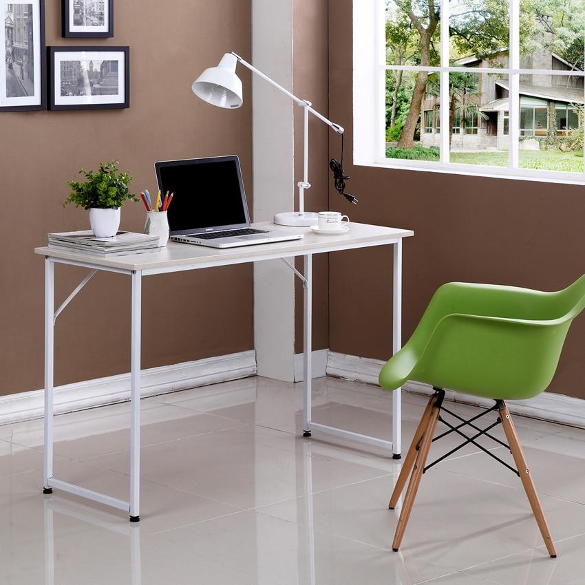 single based desktop computer desk home minimalist simple. Black Bedroom Furniture Sets. Home Design Ideas