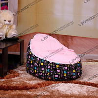 FREE SHIPPING Bean Bag With 2pcs Bright Pink Up Cover Baby Bean Bag Chair Baby Bean