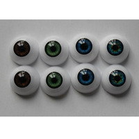 17 mm Acrylic Eyes 6 kind of Color Fit for 17 Inch Baby Doll Half Round Reborn Baby Doll Eyes Accessories Wholesale 50 Pair