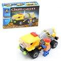Kazi 69 pçs/set churn car liquidificador cidade de engenharia de construção de blocos de construção crianças brinquedos compatíveis com presente lepin