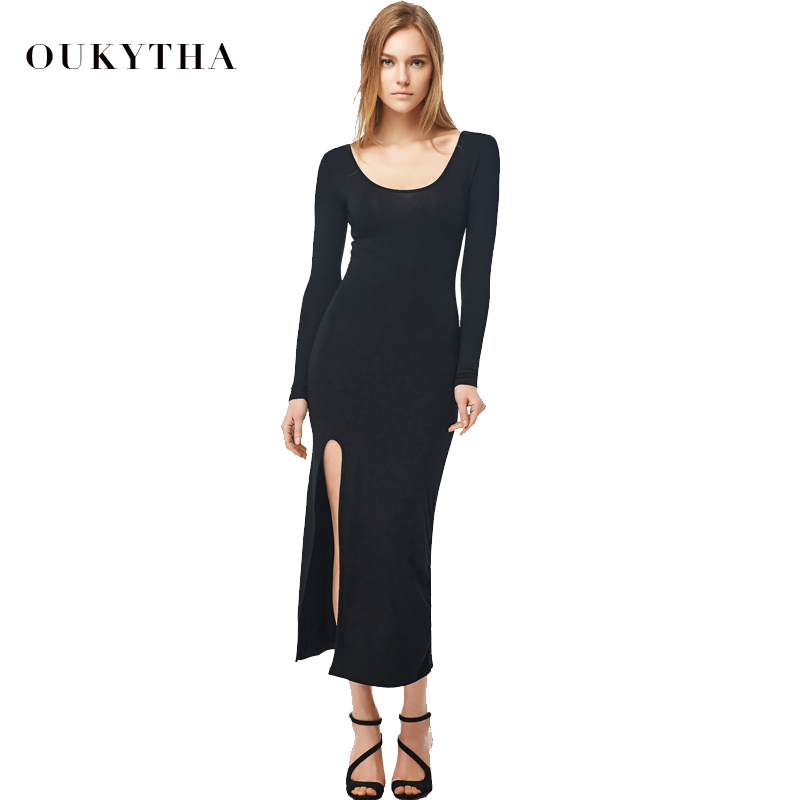 Vestido negro manga ancha
