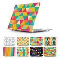 Unique Fashion Patcwork Style Cover Case for MacBook Pro 13 Retina 15 New Mac Air 11 12 13.3 inch Hard Shell Protective Case