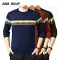 New Fashion Causal Sweater For Men Cotton Knitted Pullover Male Jumper O-neck Long Sleeve Soft Warm Knitwear Plus Size