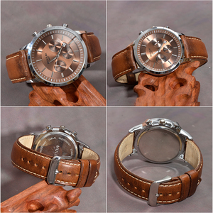 Image 4 - BEAFIRY Oil Tanned Leather 22mm 20mm 18mm Watchband Quick Release Watch Band Strap Brown for Men Women compatible with Fossil