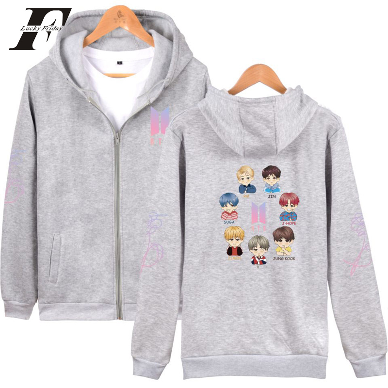 LUCKYFRIDAYF 2018 bts kpop cotton oversized hoodies & sweatshirts womens men hoodies for women pullover hoodies moletom feminino