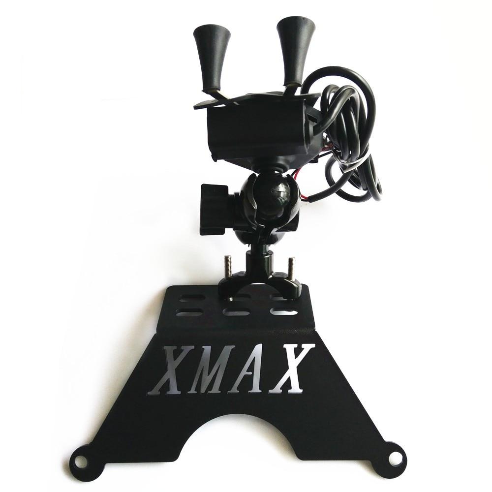 Modified Motorcycle Xmax 125 250 300 400 Phone GPS Bracket Plate Holder Xmax Bracket For Yamaha Xmax 300 Xmax 250 2017 2018