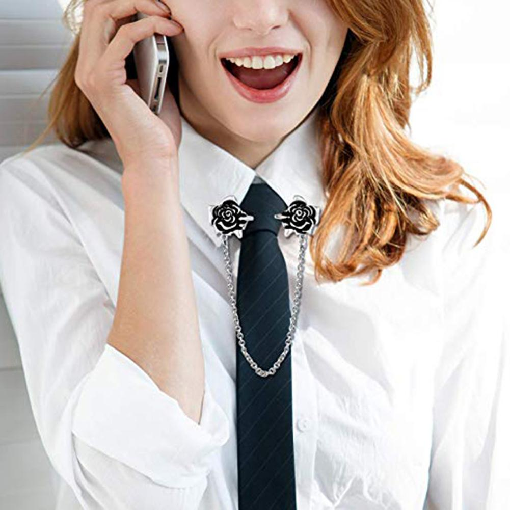 3Pcs/Set Antique Flowers Faux Pearl Women Cardigan Collar Dress Shawl Chain Clip New
