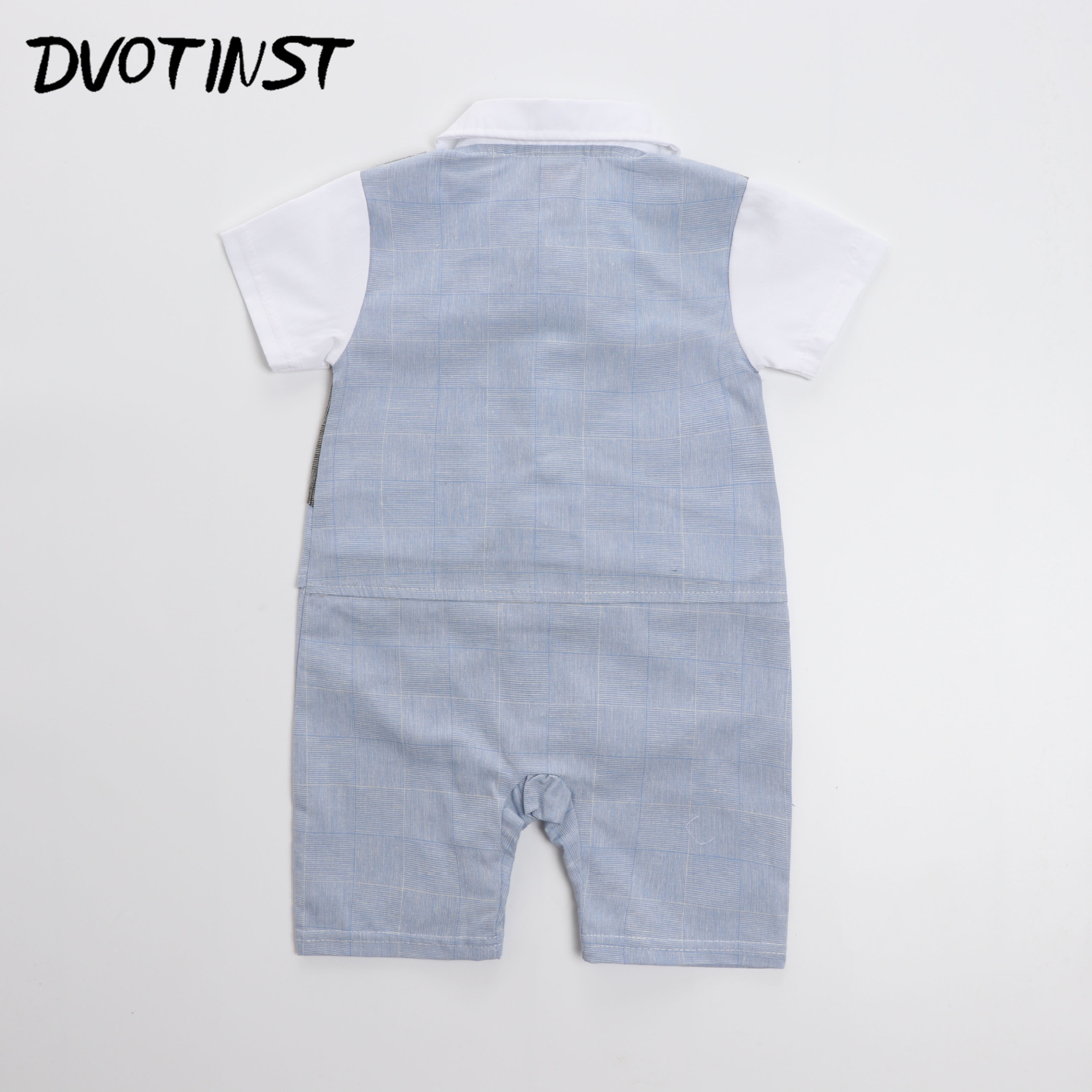 Baby Boys Gentleman Bow Tie Short Sleeve Romper Outfit Suit Infantil