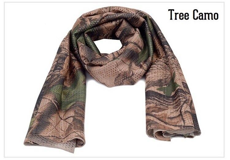 Универсальный арабский армейский Тактический Камуфляжный шарф для мужчин военный джунгли бой ветрозащитная сетка шаль вуаль унисекс Камуфляж шарфы для пейнтбола - Цвет: Tree Camo