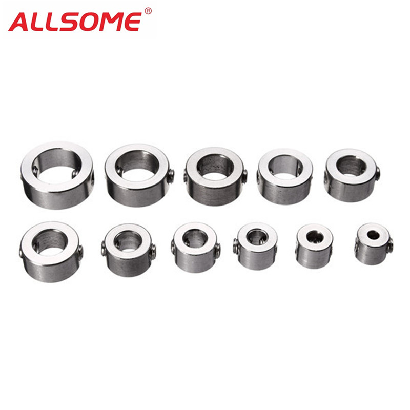 ALLSOME 12pcs 3-16mm Stainless Steel Drill Depth Stop Bit Collar Set Drilling Limit Ring Dowel Shaft Chuck Positioner Locator
