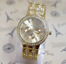 New Luxury Geneva Brand beauty Crystal watch women men fashion dress quartz wrist watch Relogio Feminino