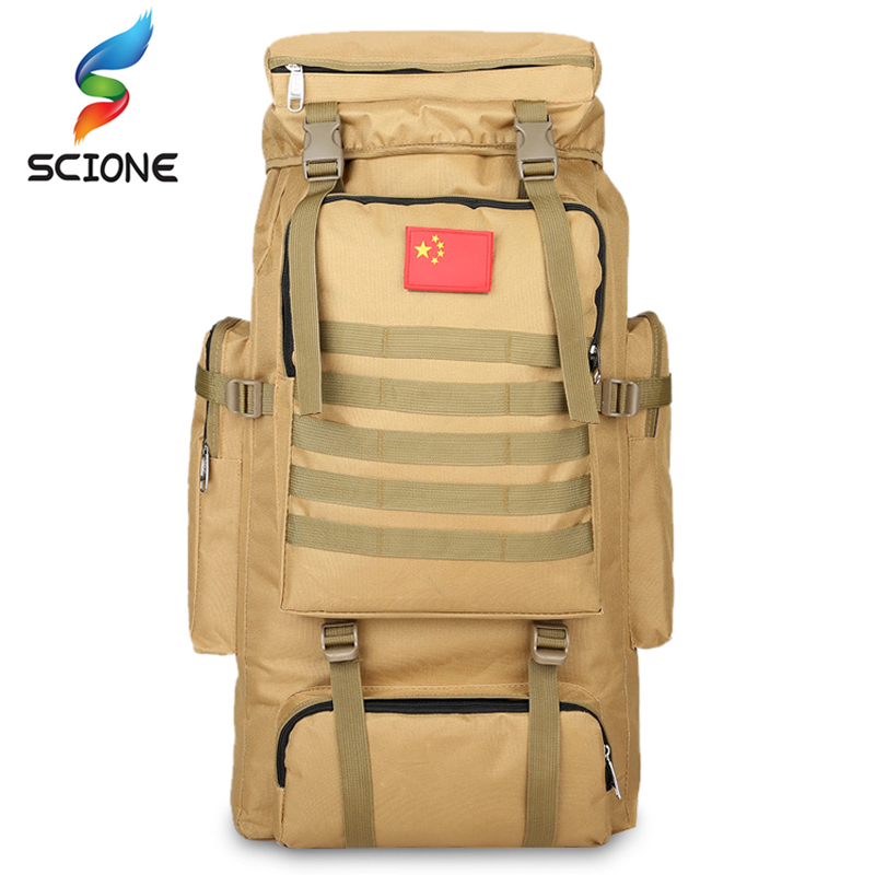 70L Outdoor Waterproof Military Tactical Large Backpack Camping Bags Mountaineering Bag Men's Hiking Rucksack Travel Backpack lemochic high 65l outdoor mountaineering bag waterproof sport travel backpack camping hiking shiralee luggage canvas rucksack