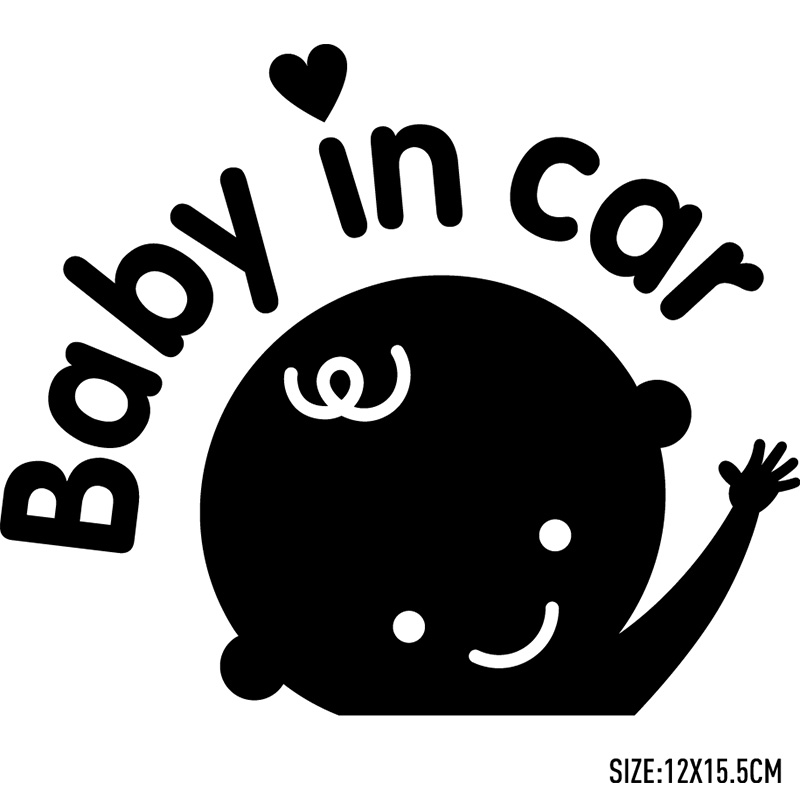 3 Pieces Baby in car Car Stickers Car-Styling For ford focus VW golf gti cruze Fiesta renault accessories