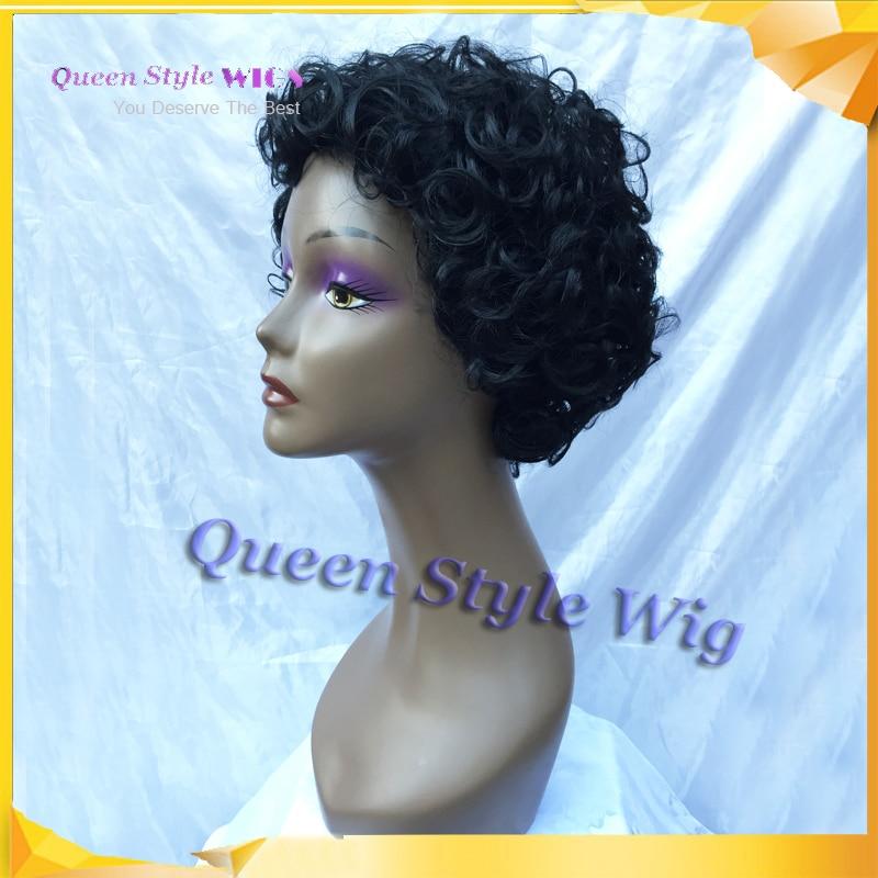 Synthetic Short Sphere Cut Black Hair Wig Hot Sale Custom Short